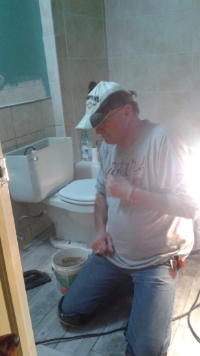 Mike doing his grouting thang. Like a boss.