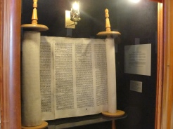 200 year old Torah scroll that survived the Holocaust.