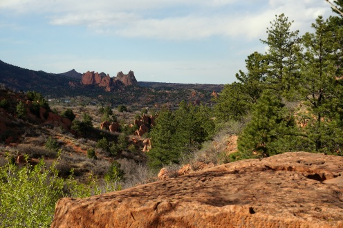 Garden of the Gods in the distance.